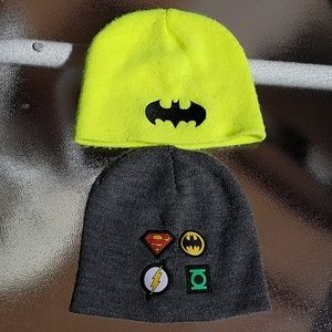 Batman and Justice League hats